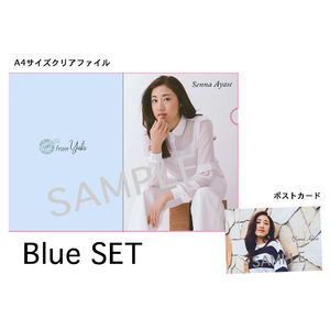 STORE開設記念!期間限定グッズ クリアファイル+ポストカード 【Blue Set】